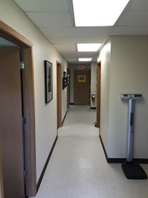 Chiropractic Irwin PA Hall To Therapy Rooms