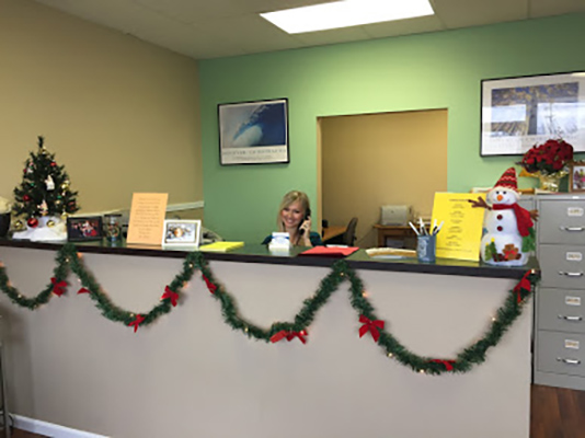 Chiropractic Monroeville PA Reception Desk